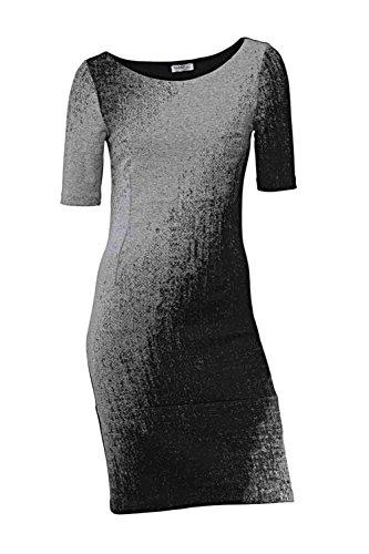 schwarz Bodyforming International 36 Damen Größe Jacquardkleid Class grau wIpqaCW