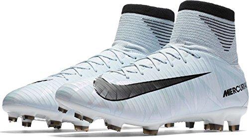 3 Fg Football Boots (NIKE Men's Mercurial Veloce III DF FG Soccer Cleat (SZ. 9.5) Blue Tint, White)