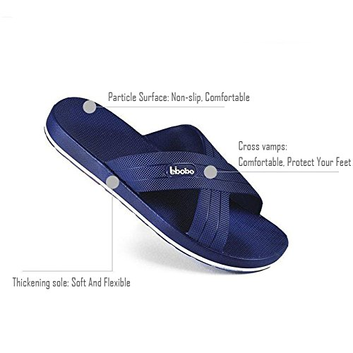 0b92da7dae4 HB-Household Paangkei Large Size Mens Slippers Sandals - Man Bedroom Home  Indoor Outdoor House Pool Spa Massage Foam Non-Slip Shower Household Beach  Chinese ...