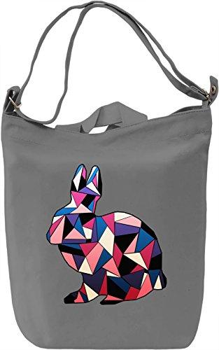 Geometric Rabbit Borsa Giornaliera Canvas Canvas Day Bag  100% Premium Cotton Canvas  DTG Printing 