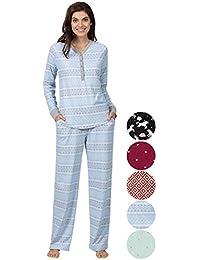 Pajamas for Women - PJ Sets for Women, Cotton Jersey Whisper Knit