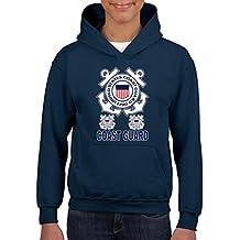 Artix United States Coast Guard US Coast Guard Unisex Hoodie For Girls and Boys Youth Kids Sweatshirt Clothing Large Navy Blue