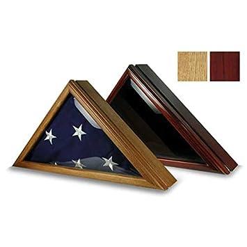 US Flag Store Officers 3ft x 5ft Flag Display Case – Black Cherry