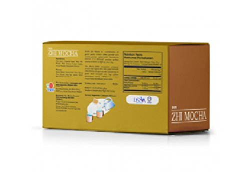 10 Box DXN Zhi Mocha with Healthy Ganoderma Coffee ( Total : 200 sachets x 21 g ) by DXN