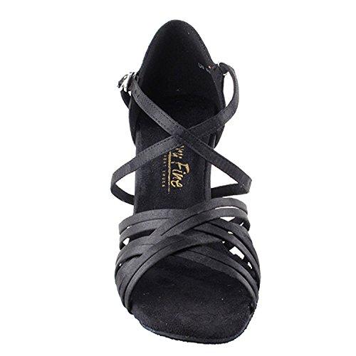 50 Nuances De Collection Iii Chaussures De Danse Noire, Robe De Soirée De Confort Pompes De Mariage, Chaussures De Bal Pour Latin, Tango, Salsa, Swing, Thêatre Art De 50 Nuances (2,5, 3 Et 3,5 Talons) 2784l- Satin Noir