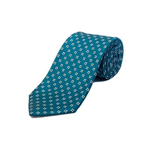 (Ermenegildo Zegna Men's Silk Geometric Pattern Tie)
