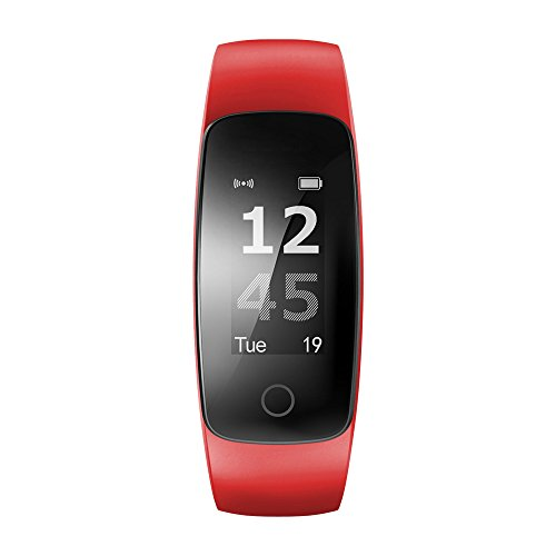 HAALIFE◕‿ Activity Tracker Watch with Heart Rate Monitor, Water Smart Fitness Band with Step Counter, Calorie Counter, Red