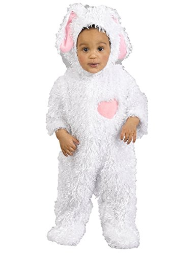 Children Halloween Just Pretend Costume Bunny Onesie Size 6 to 12 Months - Fuzzy Bunny Costume