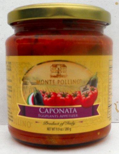 Monte Pollino (6 pack) Caponata Eggplant Appitizer 9.9oz jars from Italy