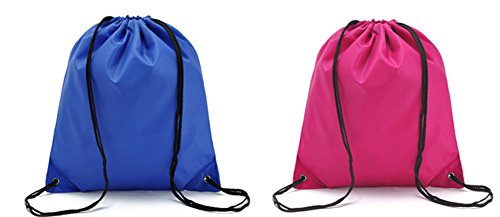 Urmiss 2 Pieces Waterproof Gym Bag Large Drawstring Backpack Sackpack Stroge Bags for Home Travel Shopping Sport Yoga School