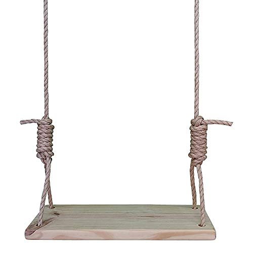 22 Inch Southern Pine Wooden Tree Swing w/ 12 ft of Rope Swings Rope Kids Adult Outdoor Indoor Patio Pine.