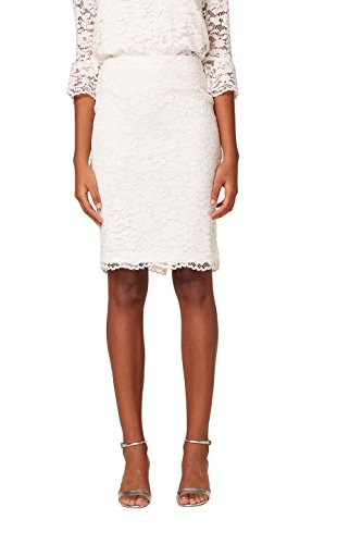 ESPRIT Collection Jupe Femme Blanc (Off White 110)