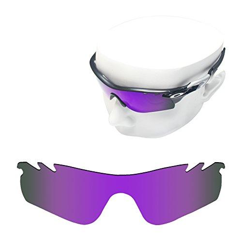 OOWLIT Replacement Sunglass Lenses for Oakley RadarLock Path Vented Purple Mirror - Lens Radarlock