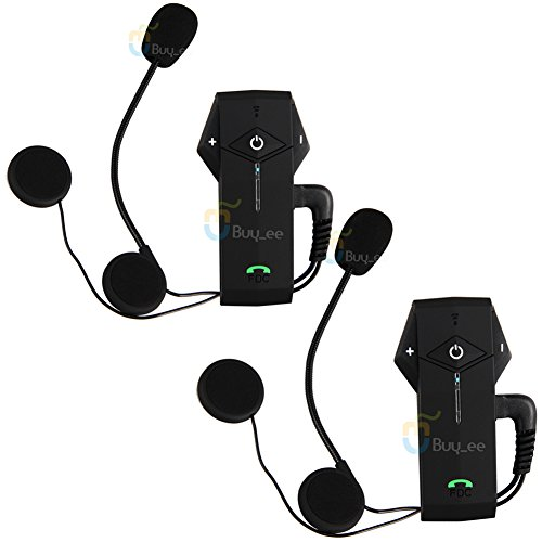 Buyee 2x Motorcycle Motorbike Helmet Bluetooth 1000m Hands Free Bt Intercom Headset NFC Tech (2 Units) by Buyee