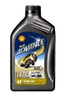Shell 550027075 Advance 4T Ultra 10W 40 Motorcycle Engine Oil