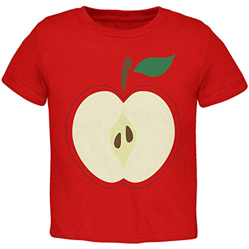 Halloween Apple Slice Costume Toddler T Shirt Red 4T