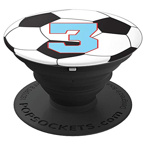 Soccer Jersey #3 Design - PopSockets Grip and Stand for Phones and Tablets