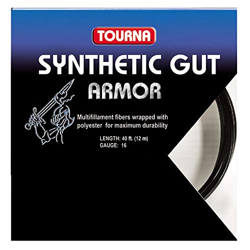 Tourna Synthetic Gut Armor Black Tennis String - 17g ()