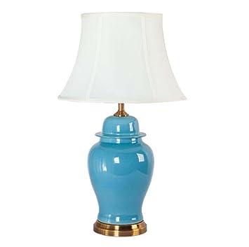 Lámpara de mesa de cerámica, lámpara de lectura que cuida ...