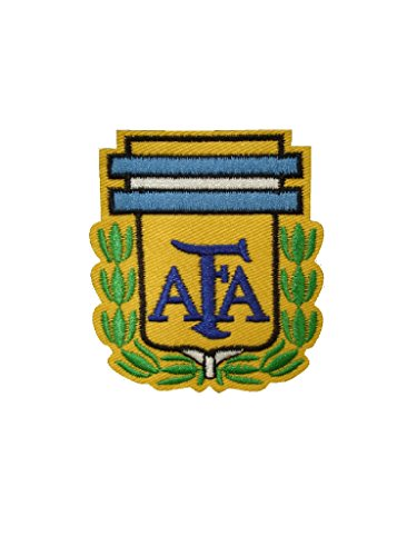 AFA Iron On Patch Fabric Argentina Soccer Football Decal 2.7 x 2.2 inches (6.8 x 5.5 ()