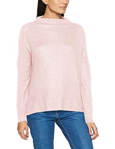 Only Onlkleo L/S Plain Pullover KNT Noos, Pull Femme Rose (Rose Dawn Detail:melange)