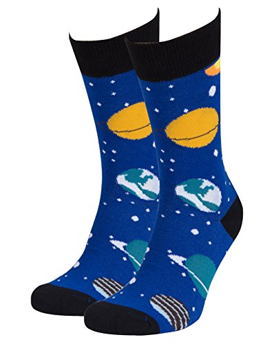 Socks n Socks-Men's Luxury Cotton Colorful Funny Cool Science Socks Gift -