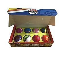 OlgaToys® 8 Pieces Plastic Super Anime Pokeball Figures Balls for Pokemon Fans