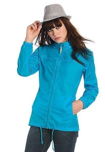 B&C Scirocco Windbreaker, Outdoor Regenjacke für Damen. Größen XS, S, M, L, XL, XXL, 10 Farben, Größe:S;Farbe:Purple