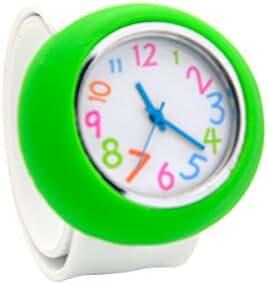 Unisex 3D Cartoon White Green Kids Watch Girls Boys Sports Watch Bendable Rubber Strap Wrist Watch