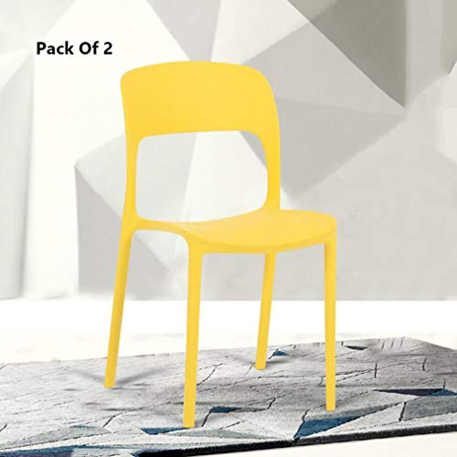 Amazon.com: YCSD - Juego de 2 sillas apilables de plástico ...