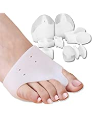 DR JK Bunion Relief and Bunion corrector, Ball of Foot Cushion, Toe Separators and Toe spreader, and Metatarsal Pad for Women and Men of all ages; 5 distinct pairs, 10 pieces, of medical grade gel proven for quick results