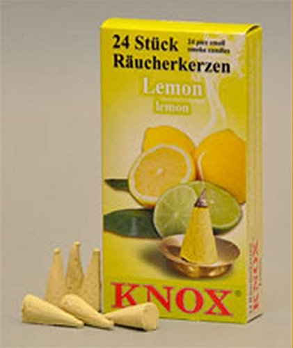 KNOX Lemon Scented Incense Cones, Pack of 24, Made in Germany