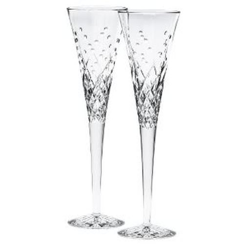 - Waterford Happy Celebrations Crystal Flute Glasses, Set of 2