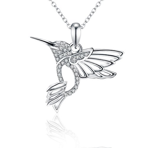 30 Easy Costume Ideas (Costume Cubic Zirconia Fashion Sterling Silver Hummingbird Necklace for Women, Girls, Girlfriend)