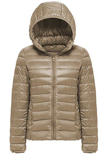 Windproof Ladies Lightweight Lovache Coat Down Jacket Fashion Khaki qEt6wI6x