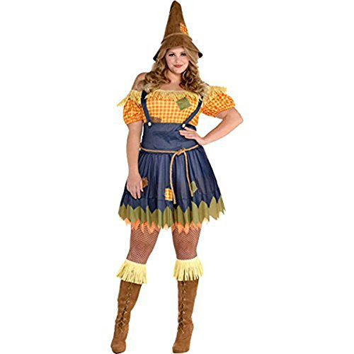[Amscan Sultry Scarecrow, Plus Size] (Scarecrow Adult Plus Costumes)