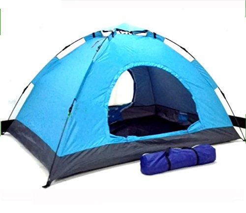 ファイバリビジョン信頼できる自動ロープテントセットコンビネーションダブルドアダブル3屋外キャンプ自動プルロープキャンプテントZXCV
