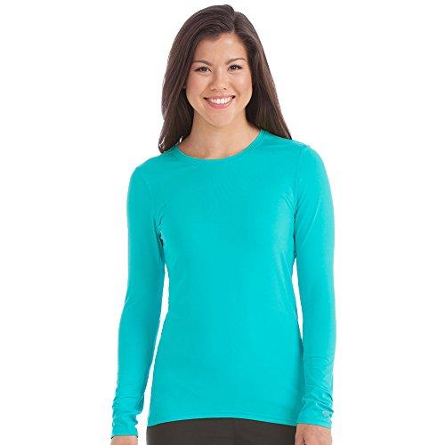Aqua Womens Shirt (Med Couture Activate Women's Performance Long Sleeve T-Shirt Medium Aquamarine)