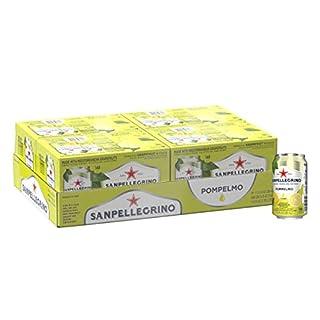 San Pellegrino Pompelmo Sparkling Grapefruit Juice (24 x 330ml Cans), 11.15 Fl. Oz (Pack of 24)