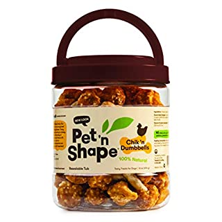 Pet 'n Shape Chik 'N Rice Dumbbells - All Natural Dog Treats, Chicken, 1 Lb