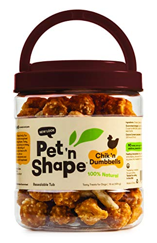 Pet 'N Shape Chik 'N Rice Dumbbells Natural Dog Treats, 16-Ounce