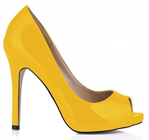 Schuhe Sinn Single Pearl Fisch high Yellow Schuhe große Fein Frauen der Geschmack tipp Frauen fallen Dark heel Reformator rot Wein Nachtclubs qwnF4TwE
