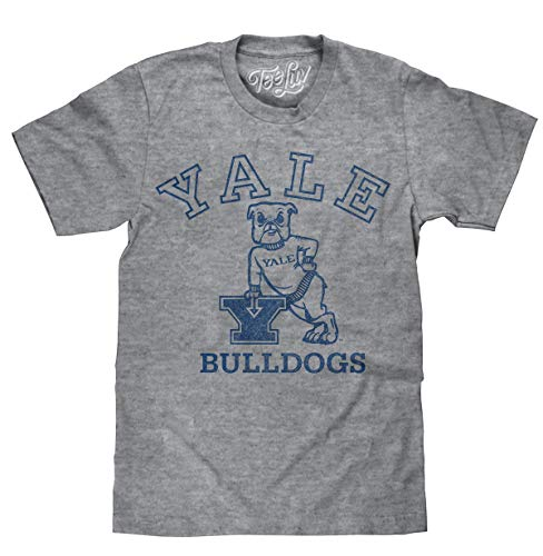 Yale University Bulldogs Logo  Soft Touch Tee-medium Graphite Snow Heather
