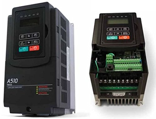 Westinghouse Motor Control (Teco Variable Frequency Drive, 2 HP, 230 Volts 3 Phase Input, 230 Volts 3 Phase Output, NEMA 1, A510-2002-C, Heavy Duty VFD Inverter for AC motor control)