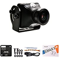 RunCam Eagle 2 FPV Camera 4:3 FOV Global WDR 800TVL 5-36V 2.5mm Lens Aluminium NTSC PAL True Starlight For Drone Quadcopter (Black)