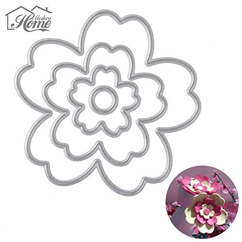 Best Quality - Cutting Dies - Flowers Button Metal Cutting Dies Stencil for Decor DIY Scrapbooking Album Decorative Embossing Paper Cards Halloween Christmas - by SeedWorld - 1 PCs ()