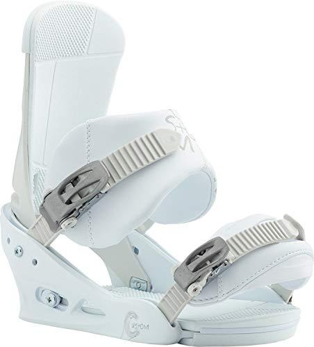 Burton Custom Snowboard Bindings White Sz M (8-11)