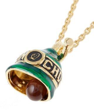 Q-pot. Sakuranbonbon Cherry Blossom Chocolate Bell Necklace Green New (Irish Make Up Bell)