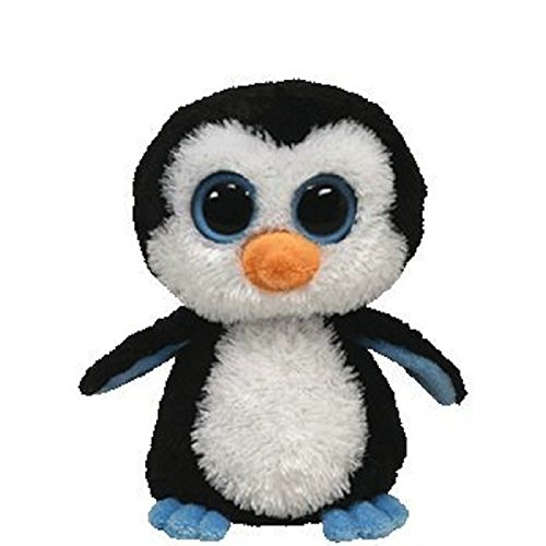 """Ty Beanie Boo Waddles the Penguin 6"""" - (Solid Eye Color)"""