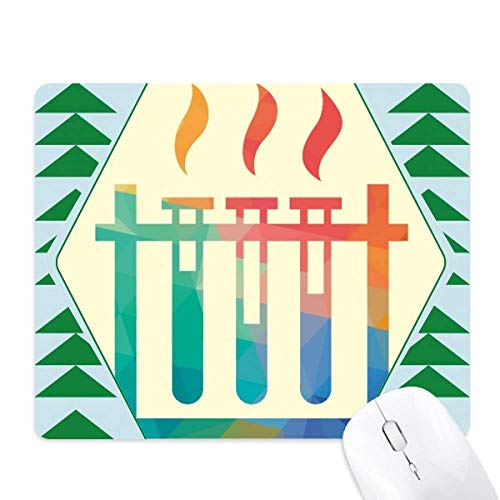 Different Temperatures Test Tube Chemistry Mouse Pad Green Pine Tree Rubber Mat